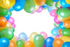balonów koloru rama odizolowywająca Fotografia Royalty Free