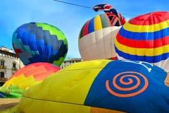 balonów lotniczych kolorowe gorąco Zdjęcie Stock