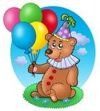 balonów niedźwiedzia błazenu łąka Obraz Stock