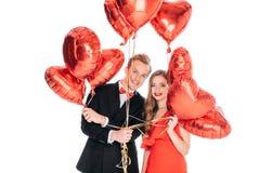 balonów pary serce kształtujący Zdjęcia Royalty Free