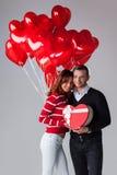 balonów pary serce kształtujący Fotografia Royalty Free