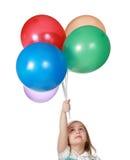 balonów wiązki dziewczyny mienie zdjęcie royalty free