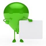 Balonów zieleni przedstawienie ilustracja wektor