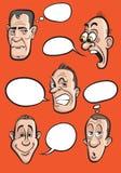 balon emocja stawia czoło mowa ustalonego wektor royalty ilustracja
