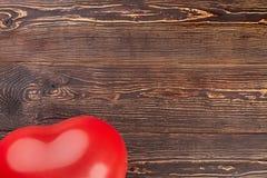 Balon na drewnianym tle, cropped wizerunek Obraz Royalty Free