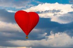 balon powietrza gorąca czerwony Obraz Royalty Free