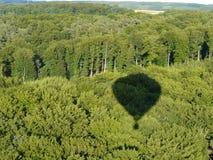 balon powietrza gorące cień Obraz Royalty Free