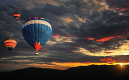 balon powietrza kolorowe gorąco Obraz Royalty Free
