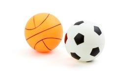 Baloncesto, balompié o fútbol Foto de archivo