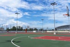 Baloncesto court Imágenes de archivo libres de regalías
