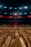 Baloncesto court Arena de deporte Fotos de archivo libres de regalías
