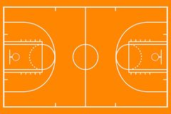 Baloncesto court Campo del fondo de la maqueta para la estrategia del deporte Vector stock de ilustración