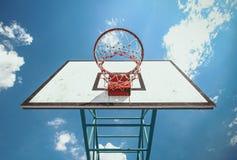 Baloncesto de la calle Foto de archivo libre de regalías
