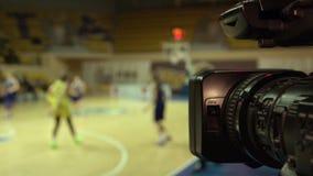 Baloncesto de la difusión almacen de metraje de vídeo