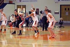 Baloncesto de las muchachas del NCAA Fotos de archivo libres de regalías
