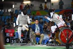Baloncesto 2016 de los juegos de Paralympics imagen de archivo libre de regalías
