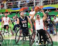 Baloncesto 2016 de los juegos de Paralympics imagenes de archivo