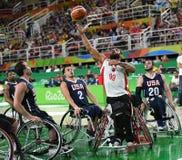 Baloncesto 2016 de los juegos de Paralympics fotografía de archivo libre de regalías