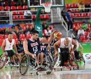 Baloncesto 2016 de los juegos de Paralympics fotos de archivo libres de regalías
