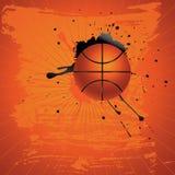 Baloncesto del Grunge Foto de archivo