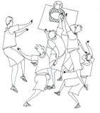 Baloncesto del juego de la gente Imagen de archivo
