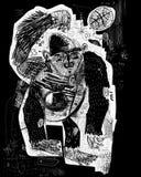 Baloncesto del mono Imagenes de archivo
