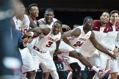 2016 baloncesto del NCAA - Cincinnati en el templo Fotografía de archivo libre de regalías