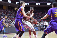 2015 baloncesto del NCAA - el Templo-ECU Foto de archivo libre de regalías