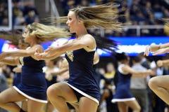 2015 baloncesto del NCAA - estado de WVU-Oklahoma Fotos de archivo libres de regalías