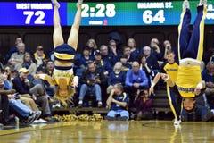 2015 baloncesto del NCAA - estado de WVU-Oklahoma Foto de archivo libre de regalías