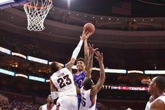 2014 baloncesto del NCAA - Kansas en el templo Fotos de archivo
