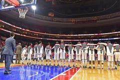 2014 baloncesto del NCAA - Kansas en el templo Foto de archivo