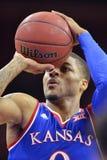 2014 baloncesto del NCAA - Kansas en el templo Fotos de archivo libres de regalías