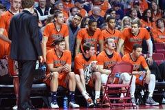 2015 baloncesto del NCAA - templo-Bucknell del NIT primer Rd Imagen de archivo