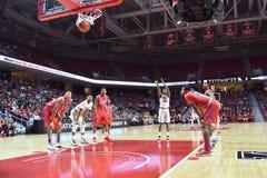2015 baloncesto del NCAA - Templo-La de los cuartos de final del NIT tech Imágenes de archivo libres de regalías