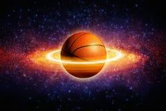 Baloncesto del planeta fotografía de archivo libre de regalías