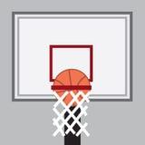 Baloncesto en aro stock de ilustración