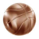 Baloncesto en bronce ilustración del vector
