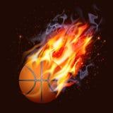 Baloncesto en el fuego Fotos de archivo libres de regalías