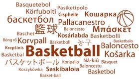 Baloncesto en todos los lenguajes foto de archivo