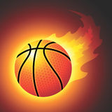 Baloncesto llameante del vector Imagen de archivo libre de regalías