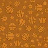 Baloncesto Logo Seamless Pattern creativo Fotos de archivo