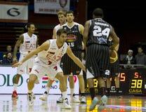 Baloncesto Milano Foto de archivo libre de regalías