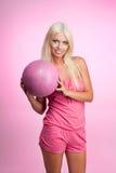 Baloncesto rosado Imágenes de archivo libres de regalías