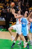 Baloncesto ruso 2009 de las mujeres Foto de archivo libre de regalías