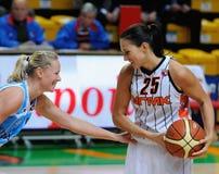Baloncesto ruso 2009 de las mujeres Imagen de archivo libre de regalías