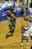 Baloncesto, shooting de Bobby Brown Foto de archivo