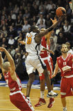 Baloncesto, shooting de Yannick Bokolo Imágenes de archivo libres de regalías