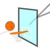 Baloncesto Swoosh Foto de archivo libre de regalías