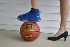 Baloncesto y regreso al hogar Fotografía de archivo libre de regalías